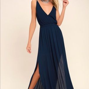 Lulus Lost in Paradise Backless Maxi